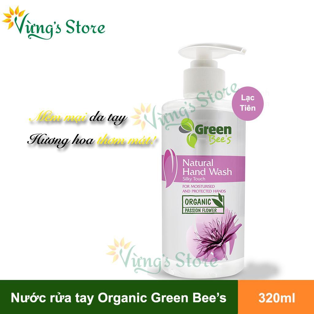Nước Rửa Tay Organic Chiết Xuất Lạc Tiên 320ml