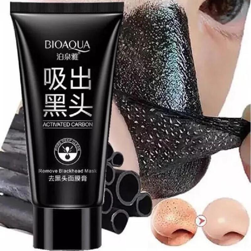 Gel Lột Mụn Và Thải Độc Than Tre Bioaqua 60g 1 bước tiện lợi hút sạch mụn cám bã nhờn và bụi bẩn cho làn da sạch mụn mịn màng trắng sáng giá rẻ