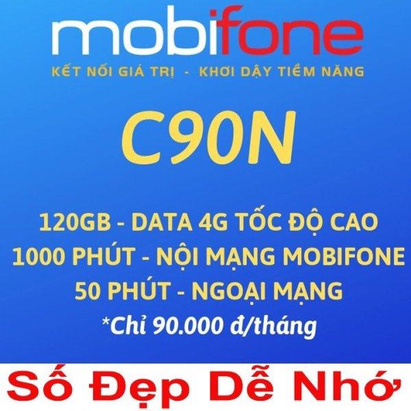 SIM 4G MOBI C90N SIM MOBIFONE ĐỈNH CAO - MIÊN PHÍ THÁNG ĐẦU từ MƯỜNG THANH ROYAL