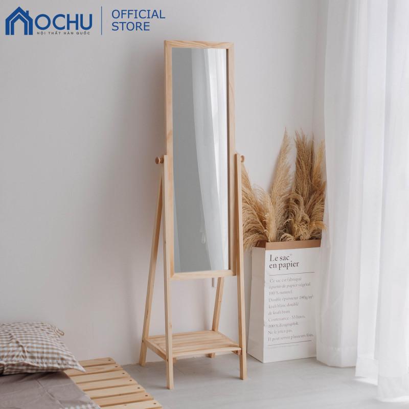 Gương Kệ Soi Toàn Thân Khung Gỗ OCHU - Mirror Shelf - Natural