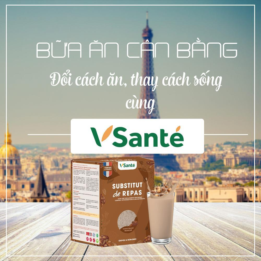 Hộp 7 gói Thực phẩm giảm cân [ Vị Hạnh nhân ] - Thương hiệu Vsanté, Pháp