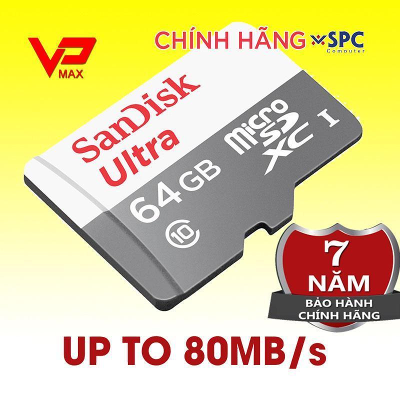 Thẻ nhớ Sandisk 64Gb 32GB 16GB bảo hành 7 năm Vĩnh Xuân