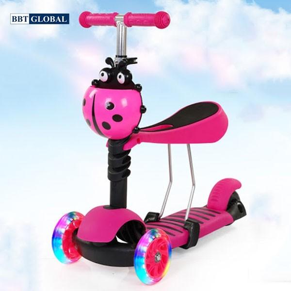 Xe trượt Scooter trẻ em cho bé 3 trong 1 BBT Global SK1305 - đồ chơi vận động,  thông minh, chính hãng