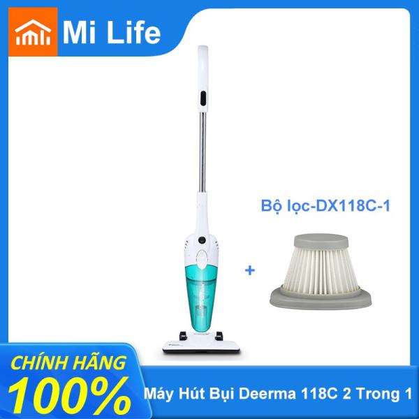 Deerma Máy hút bụi cầm tay Deerma Vacuum Cleaner DX118C công suất 600W Siêu Hút 1.2L Dung Tích Lớn Cho Gia Đình