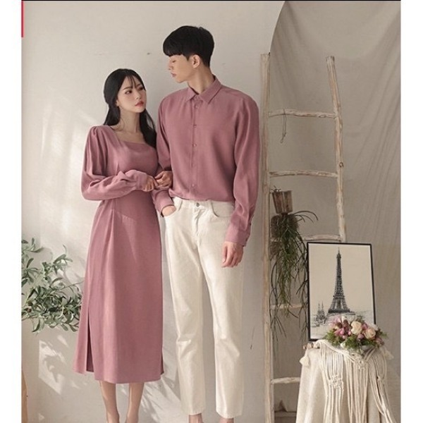 đồ đôi áo sơ mi nam với đầm váy nữ siêu dễ thương vải bao đẹp-shop chuyên thiết kế các mẫu đồ đôi hót nhất các bạn vào lựa chọn nha