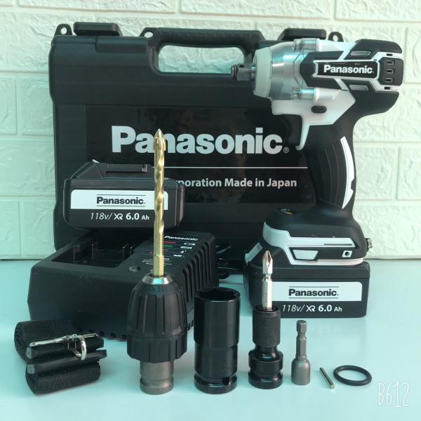 Máy siết bulong Panasonic 118V LỰC SIẾT 550Nm Phụ kiện đi kèm như hình