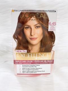 [HCM]Thuốc nhuộm tóc phủ bạc Loreal Excellence Creme 6.45 nâu ánh đỏ 172ml thumbnail