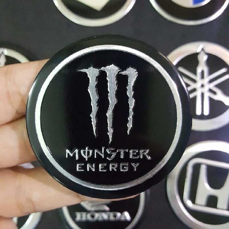 Miếng dán kim loại logo MONSTER ENERGY 5.5cm