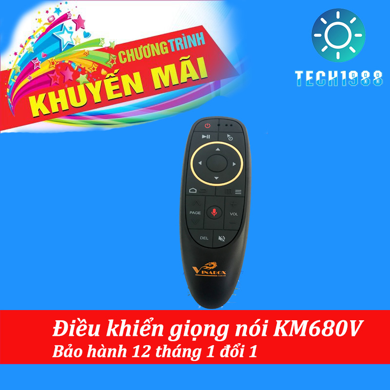 Giá Điều Khiển giọng nói Vinabox KM680V – Tích hợp MIC VOICE Ra Lệnh Bằng Giọng Nói Tốt Nhất 2019