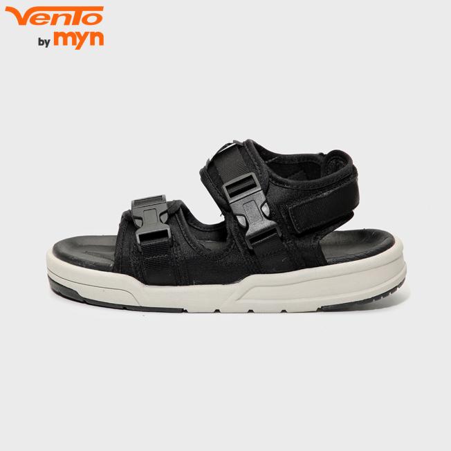 Giày Sandal Vento Nam Nữ Unisex - H1002 Đen ghi giá rẻ