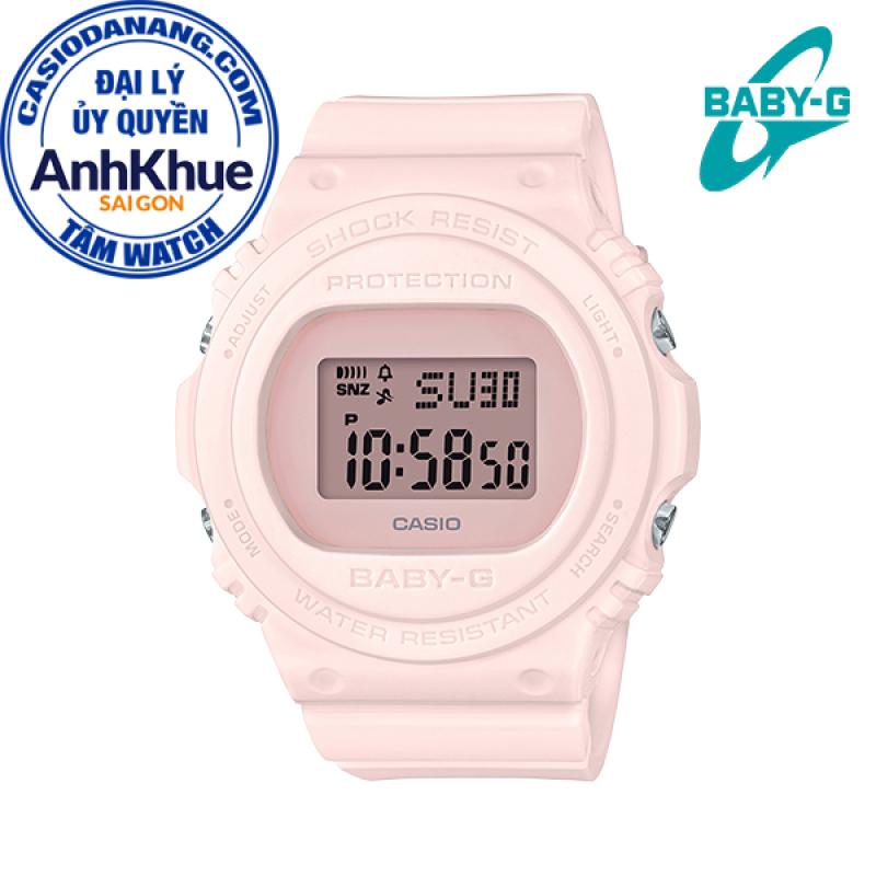 Đồng hồ nữ dây nhựa Casio Baby-G chính hãng Anh Khuê BGD-570-4DR (43mm)
