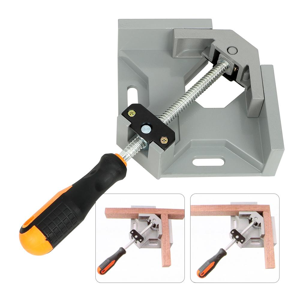 DIYWORK Welding Fixed Clip Quick Assembly Fixture Aluminum Alloy 90 Degree Corner Right Angle Clamp Woodworking Welding Positioner