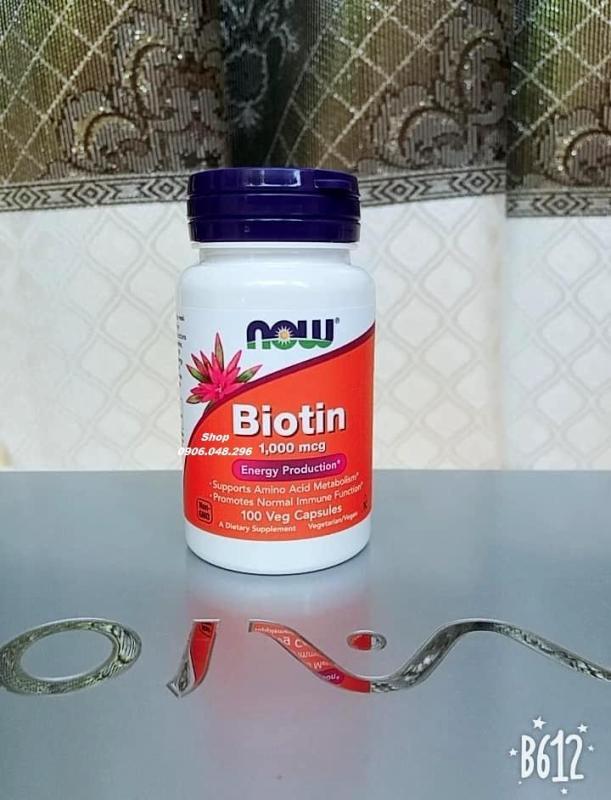 Biotin  NOW Foods USA  hỗ trợ mọc Tóc, mọc Râu, da, móng , 100 Viên - 1 Chai . Viên uống cung Cấp thêm vitamin - dưỡng chất  dùng kết hợp với minoxidil hay riêng lẻ. cao cấp