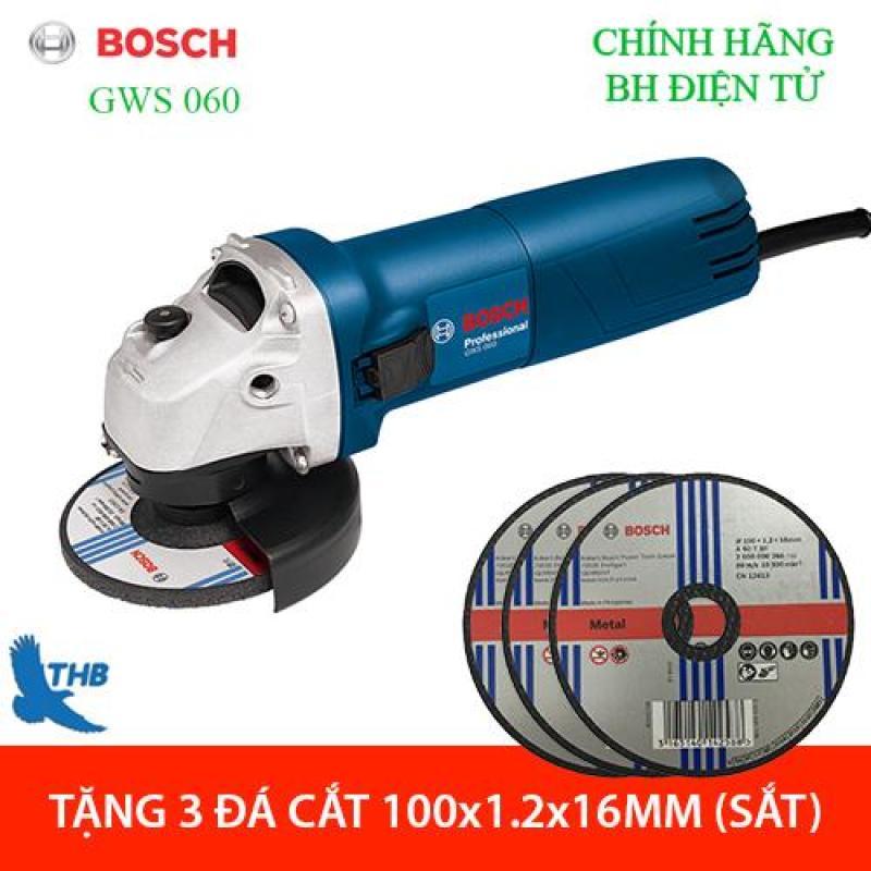 [từ 15-30] Máy mài góc Bosch GWS 060 tặng 03 đá cắt