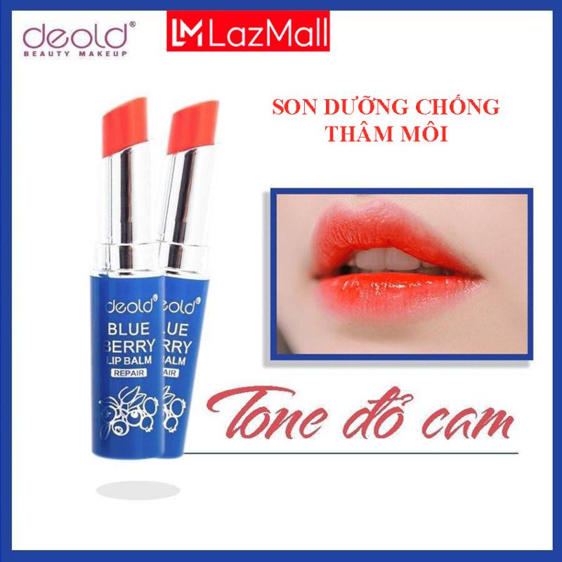 Son Dưỡng Khử Thâm Có Màu Deold Blueberry Lip Balm (màu Đỏ Cam) 3.3g