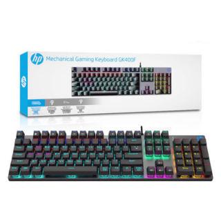 [HCM]Bàn phím cơ blue switch HP GK400F cực chuẩn - hơn 20 chế độ led tùy chỉnh (đen bạc) thumbnail