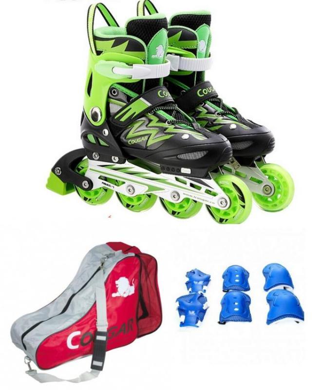 Phân phối ComboChọn Bộ Giày Trượt Patin Cougar835LSG - Có Đèn - Kèm Bộ Bảo Vệ(Gối, Khuỷu,Tay)Và Túi Đựng Giày