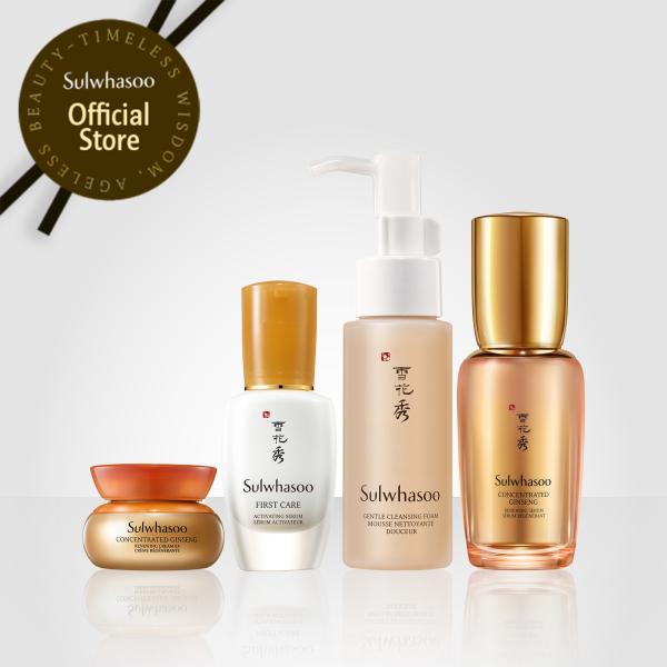 Bộ sản phẩm chống lão hóa từ nhân sâm cô đặc Sulwhasoo Concentrated Ginseng Renewing Trial Kit 4 items