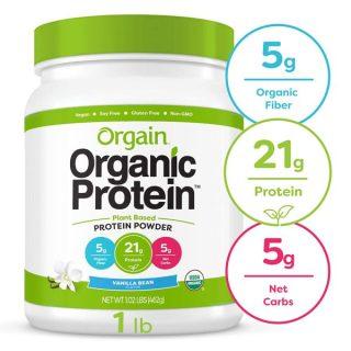 Bột Protein Orgain Organic Plant Based Hương Vanilla & chocolate 462g thumbnail