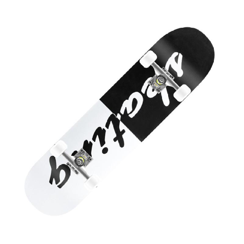 ván trượt SKATEBOARD bằng gỗ cao cấp size 80cm, thiết kế một mặt nhám một mặt hình, dành cho thanh thiếu niên