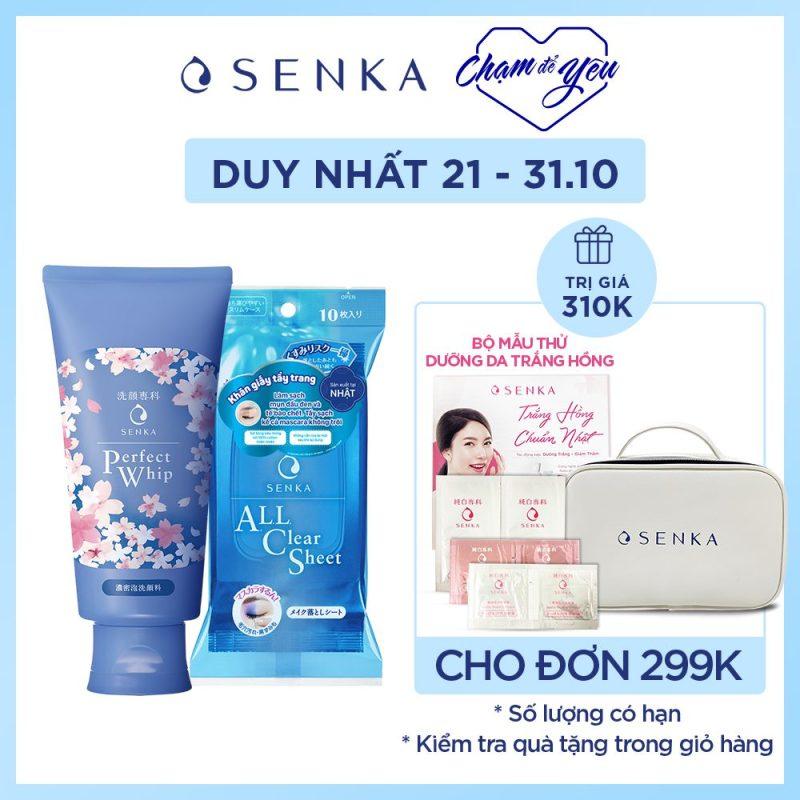 Sữa rửa mặt tơ tằm trắng Sakura phiên bản giới hạn tặng khăn giấy tẩy trang (10 tờ)