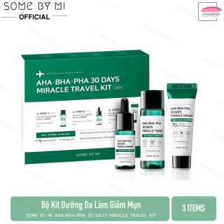 Bộ Kit Dưỡng Da Làm Giảm Mụn Some By Mi AHA-BHA-PHA 30 Days Miracle Travel Kit (3 Items Toner, Serum, Cream) thumbnail