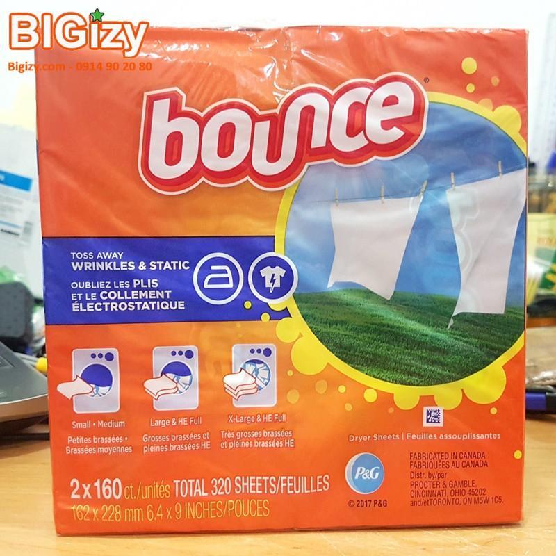 [320 Tờ] Combo 2 Hộp Giấy Thơm Bounce Outdoor Fresh Cùng Khuyến Mại Sốc