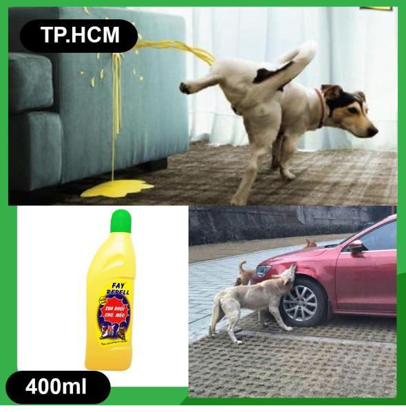 HCM-(Chai lớn 400ml) Dung Dịch Xua Đuổi Chó Mèo Chống Cắn Phá FAY REPELL / Xịt ngăn chó mèo phóng uế bừa bãi/ xịt khử mùi hôi / ngăn cắn yên xe / chống cắn phá lốp xe