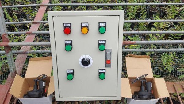 LZ4V-Tủ điều khiển từ xa dùng SIM, 1 bơm 4 van từ 24VDC