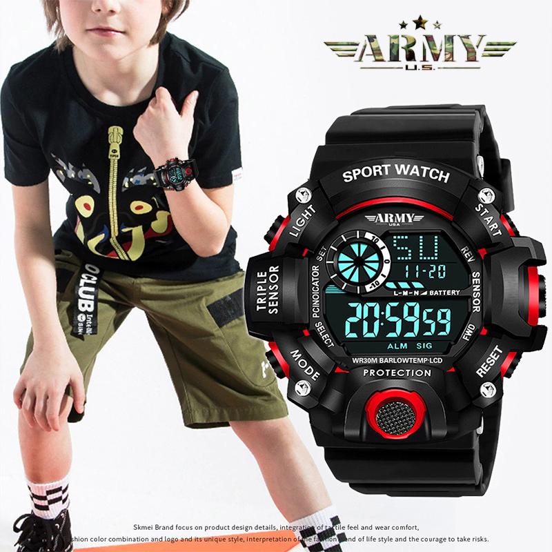 Đồng hồ Trẻ Em ARMY COREY USA An toàn tuyệt đối cho Bé, Chống Sốc, Chống Nuốc Tốt - Đồng hồ trẻ em đẹp, Đồng hồ trẻ em giá rẻ, Đồng hồ bé trai, bé gái, Đẹp,chống thấm nước, Bền, Giá Sốc, Đồng hồ trẻ em thể thao bán chạy