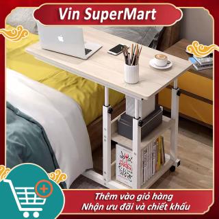 Bàn máy tính bàn phụ bàn nhỏ bàn làm việc gỗ bàn học di động có bánh xe bàn máy tính gỗ nhỏ dùng trên giường di động bàn phòng ngủ phòng làm việc bàn máy tính đa năng sáng tạo hiện đại Bắc Au thumbnail