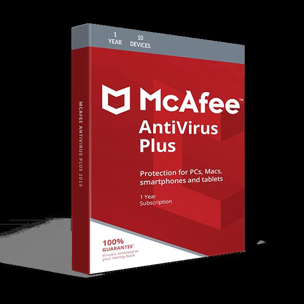 Bảng giá Phần mềm McAfee AntiVirus Plus 10 thiết bị / 1 năm Phong Vũ