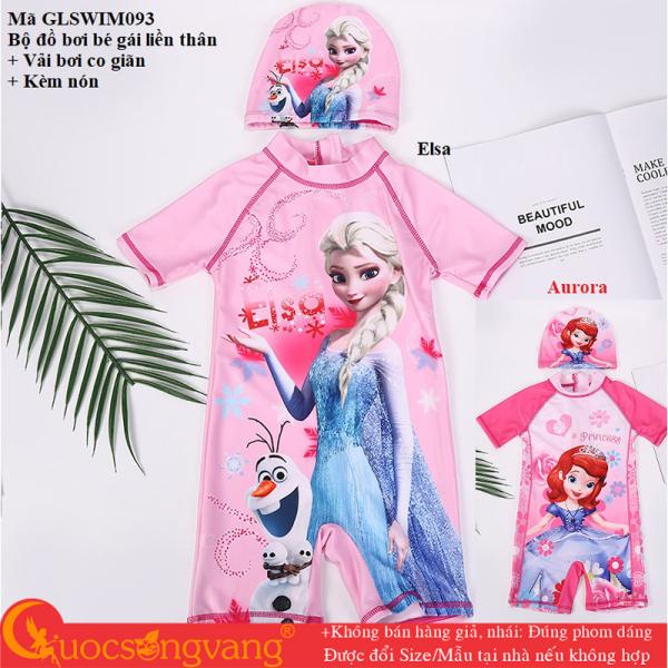 Giá bán Bộ đồ bơi bé gái Elsa set đồ bơi aurora kèm nón GLSWIM093 Cuocsongvang