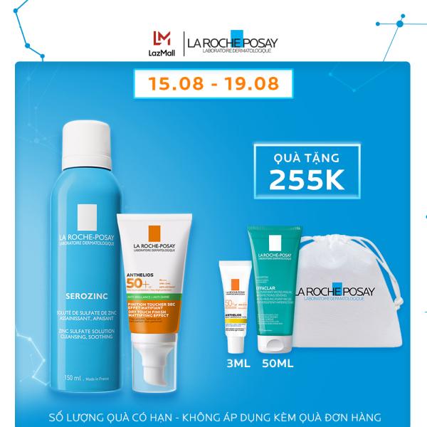 Bộ sản phẩm bảo vệ và chống nắng toàn diện La Roche-Posay Anthelios Dry Touch - Giới hạn 5sp/khách