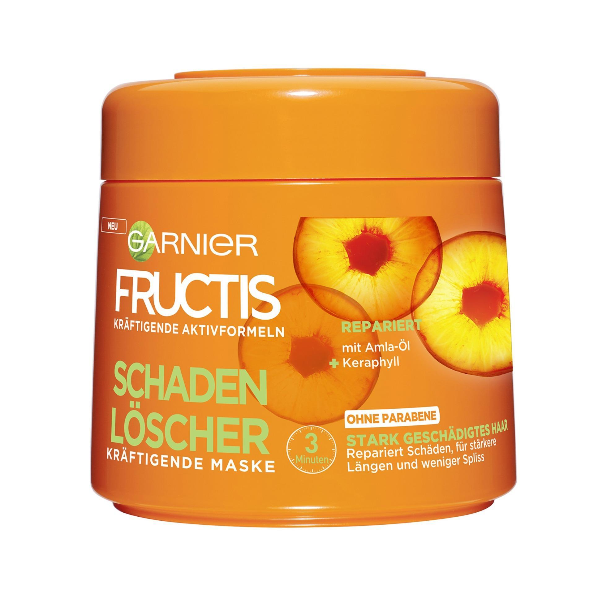 ( Hàng Đức )Ủ tóc siêu mượt Garnier - màu cam dành cho tóc hư tổn