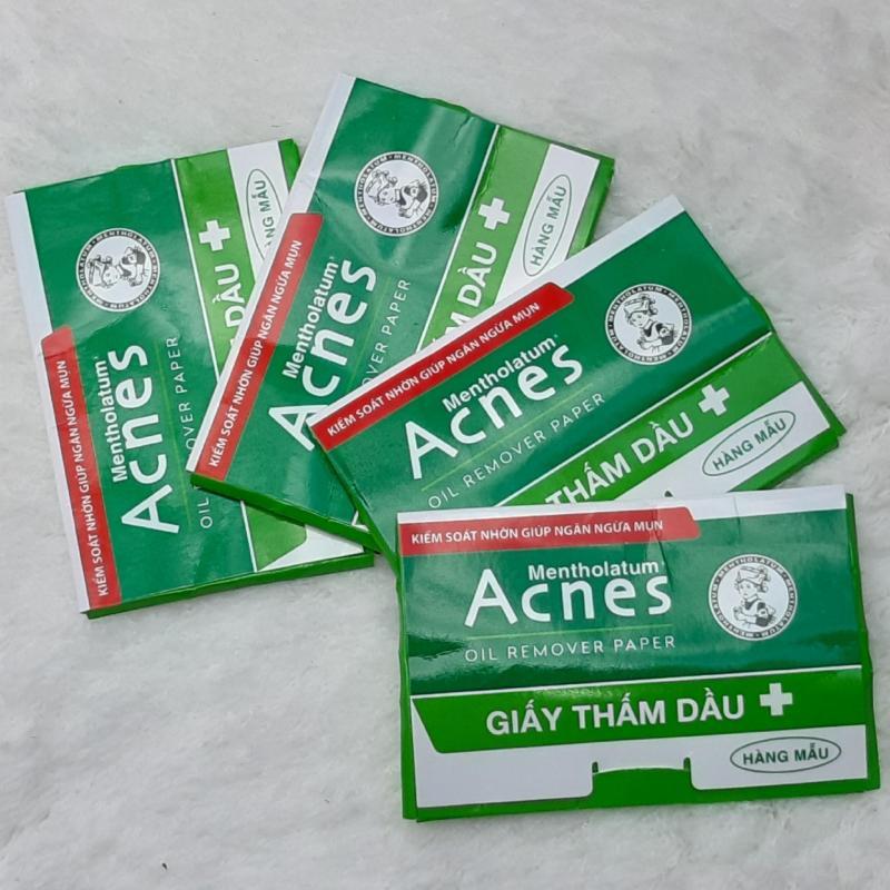Combo 4 Bịch Giấy thấm dầu Acnes Oil Remover Paper (50 tờ/bich - Hàng Mẫu )