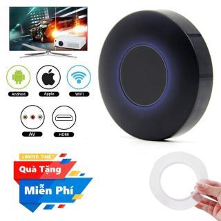 ( Quà tặng Băng dính 2 mặt đa năng trong suốt ) Thiết bị HDMI không dây Q1 Dongle hỗ trợ kết nối cổng AV - Wifi Display Dongle Q1 - HDMI Dongle Q1 hỗ trợ HDMI và AV trình chiếu từ Smartphone lên Tivi thumbnail