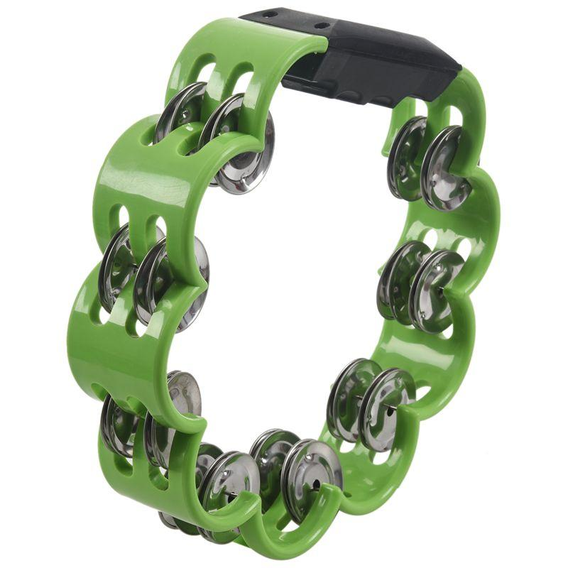 Shamrock Tambourine for Kids and Adults - Easy to Use - Comfortable Hand Held Percussion Instrument - Great for Choirs - Percussion Ensembles - Birthday Parties - Drum Circles - Etc