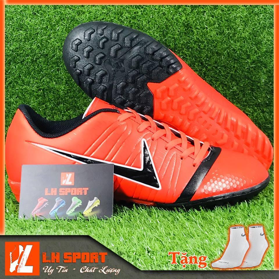 Bán Giày đá bóng giày đá banh giày TF giày phủi sân cỏ nhân tạo PRECISION đỏ, siêu đẹp và bền đã khâu mũi chắc chắn. (Tặng kèm vớ)