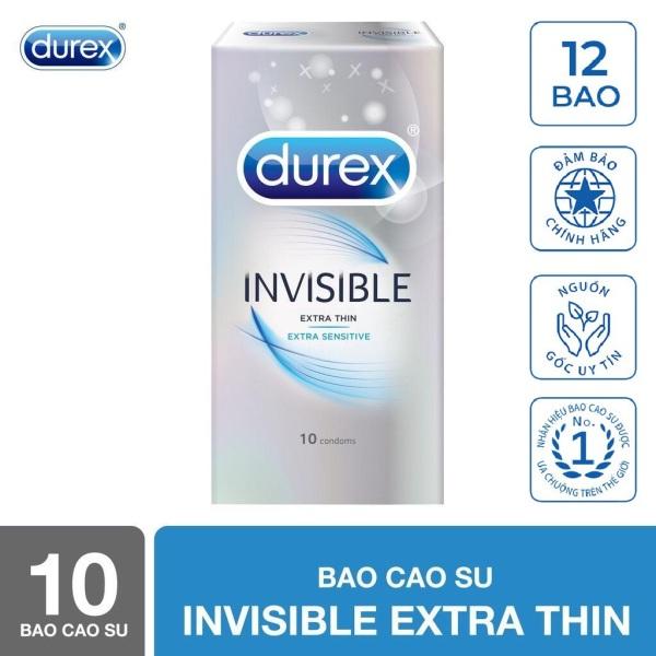 Bao cao su Durex Invisible Extra Thin cực siêu mỏng 10s [che tên sản phẩm] cao cấp