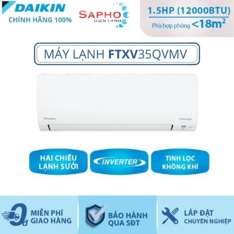 Máy Lạnh Treo Tường FTXV35QVMV- 1.5hp – Daikin 12000btu Inverter loại cao cấp - Gas R32 - Hàng chính hãng - Điện máy SAPHO