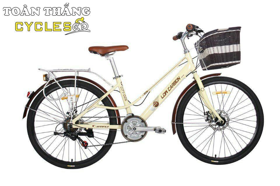 Mua Xe đạp thời trang Low-Carbon City Bike 026 2018 Kem