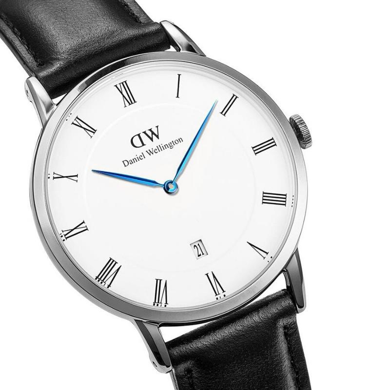 Giá bán Đồng hồ nam dây da DanieI WeIIington Size 38mm ,Đồng hồ nam mặt tròn,Đồng hồ nam chống nước , Fullbox