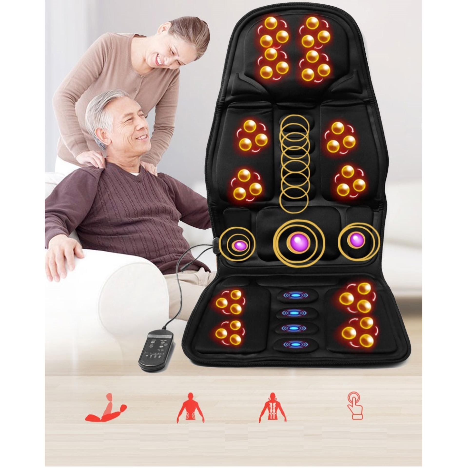 NỆM MASSAGE TOÀN THÂN - Đệm ghế matxa toàn thân  - Đệm ghế massage toàn thân ( Dùng được trên oto ) nhập khẩu