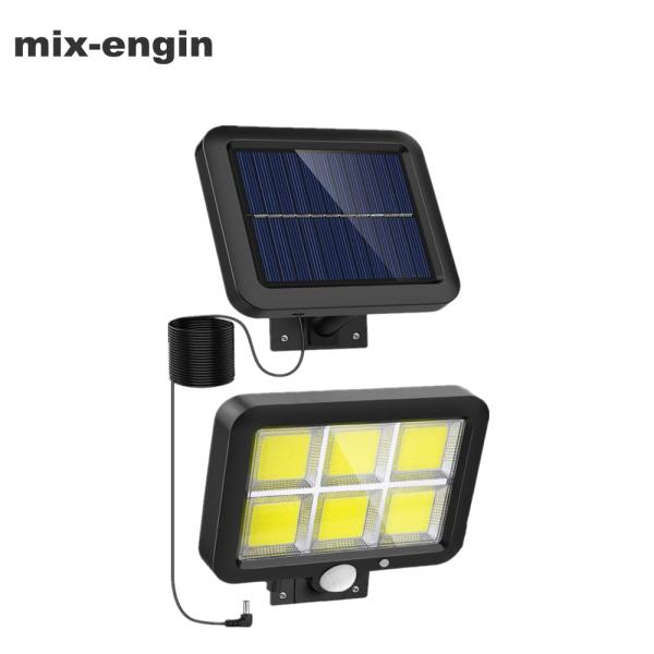 mix-engin Outdoor Lamps,Đèn LED Cảm Biến Năng Lượng Mặt Trời, Có 3 Chế Độ Sáng, Chống Nước, Chiếu Sáng Ban Đêm, Trang Trí Sân Vườn,120 LED COB sáng