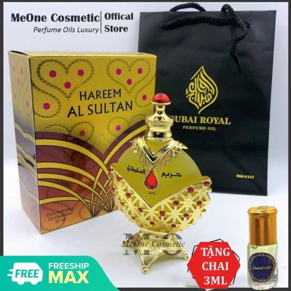 [Mua 1 tặng 1] Tinh Dầu Nước Hoa Dubai Hareem Al Sultan 35ml Nội Địa Chính Hãng Cao Cấp - MeOne Cosmetic - Siêu Phẩm Công Chúa Vàng Nữ Hoàng Đỏ Siêu Thơm Bám Mùi Cực Dai - Tặng Chai Lăn Mùi Bất Kì cao cấp