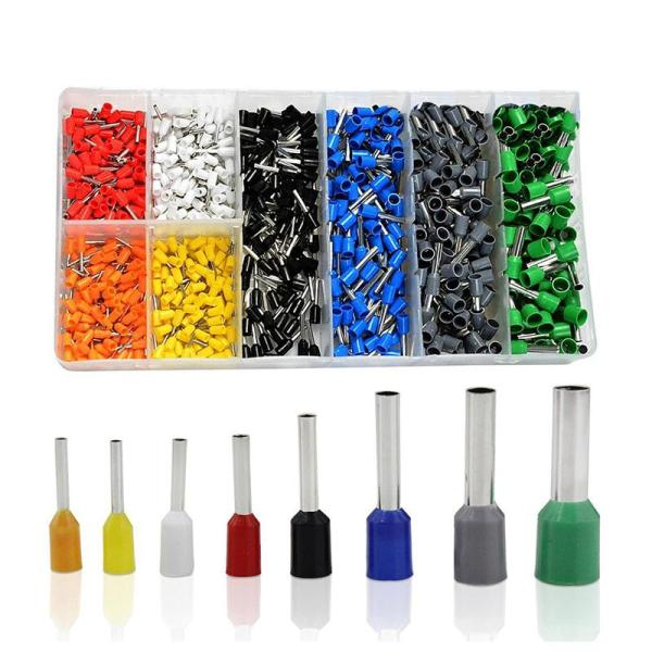 800 PCS Ferrules kit, Wire Ferrules Crimp Connector, Insulated Cord Pin End Terminal AWG 22-10 Kit ,Great Assortment Ferrules Kit With Case