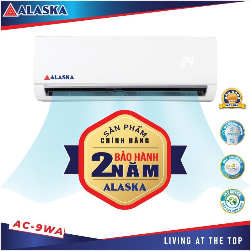 Máy Lạnh ALASKA Tiêu Chuẩn AC-9WA 1HP, có 4 chế độ gió nhẹ, vừa, mạnh và siêu mạnh, đáp ứng nhu cầu của hầu hết người sử dụng