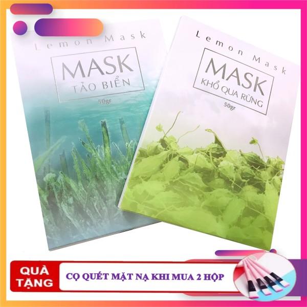 [SIÊU KHUYẾN MÃI] Mặt Nạ Thiên Nhiên Lemon Beauty - Mặt Nạ Khổ Qua Rừng - Mặt Nạ Tảo Biển - Mặt Nạ Sữa Dê Non - 50 Gram ( tặng 1 cọ quét mặt nạ khi mua 2 mask & que trộn mask )