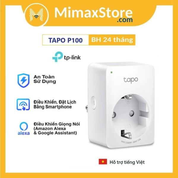 Ổ Cắm Điện Wifi Thông Minh TP-Link Tapo P100 | Hàng Chính Hãng | Bảo Hành 24 Tháng giá rẻ